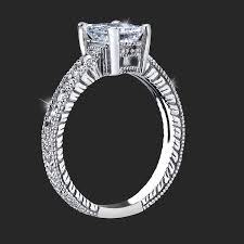detailed engagement rings your radiant ring with low mounting and custom
