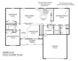 single story floor plans with open floor plan asheville b house plan schumacher homes