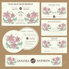 What Is Rsvp On Invitation Card Wedding Invitation Cards Set With Hand Drawn Flowers Invitation