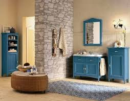 blue and beige bathroom ideas home styling
