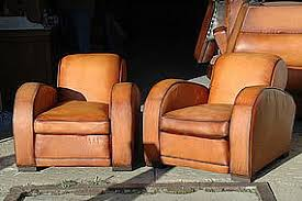 french leather club chairs erton le mans pair item 763831