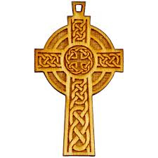 wooden celtic cross baltic birch wood charm celtic cross 41x24mm