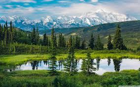 alaska range beautiful mountain landscape 4k hd desktop