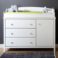 Changing Table White Pine Wood Changing Table 3 Spacious Drawers Removable