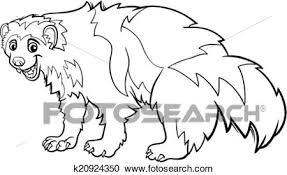 clipart wolverine animal cartoon coloring k20924350