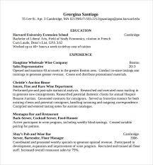 resume exle for server bartender bartending resume template 62 images bartender resumes