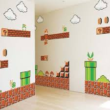 mario wrapping paper nintendo wall graphics mario bros nintendo wall decals