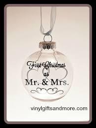 floating ornament as mr mrs hearts vinyl