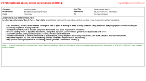 Tool And Die Maker Resume Bench Inspector Cv Work Experience Samples
