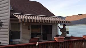 Awning Roof Manual Retractable Awning In Brick Nj By Shade One Awnings Youtube