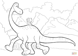 spot riding arlo coloring page free printable coloring pages