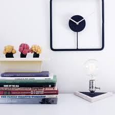 simple timeless home decor minimal steel wood clocks
