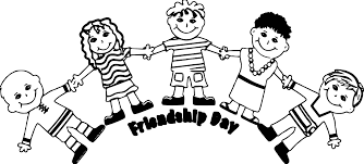 friendship day five friends coloring page wecoloringpage