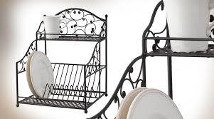 étagère en fer forgé pour cuisine egouttoir à vaisselle en fer forgé