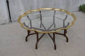 brass and glass tray top coffee table by baker for sale at 1stdibs