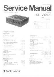 technics su vx820 service manual immediate download