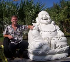 happy buddha laughing on lotus flower for sale custom buddha