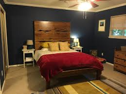 American Bedroom Furniture by Queen Sized Live Edge Bed With An Extra Tall Headboard With