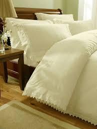 Superking Duvet Sets Cream Embroidered Super King Duvet Cover Bed Sets Luxury