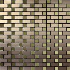 aluminum kitchen backsplash brushed metallic mosaic tiles stainless steel kitchen backsplash 9102