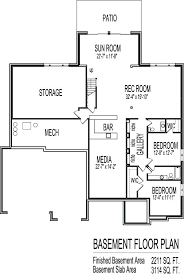 3 bedroom house plans with basement house plans single story with basement 3 bedroom 2 bath sf with 3