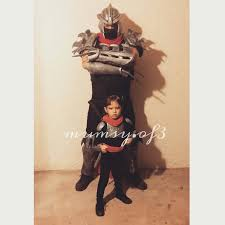 my husband and daughter as shredder and karai from tmnt teenage