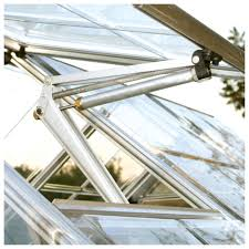 aluminium greenhouse window auto vent h 500mm d 400mm