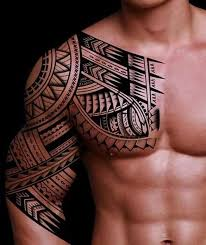 42 best polynesian maori shoulder and chest plate ink images on