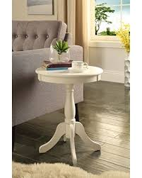 white pedestal side table amazing deal on comfortscape cs 82804 contemporary wooden top