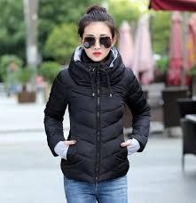 Womens Winter Coats Plus Size Plus Size Korean Long Sleeve Warm Light Padded Winter Jacket Women