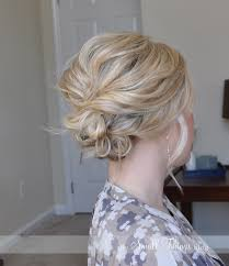 easy up hairstyles for medium length hair the messy side updo u2013 the small things blog