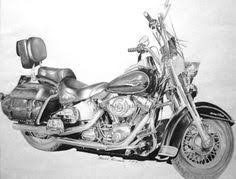 pencil sketch harley davidson biker art from a photo on sale