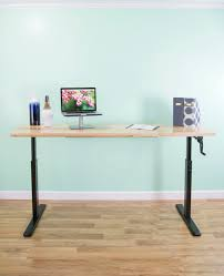 Adjustable Stand Up Computer Desk by Manual Crank Stand Up Desk Frame System Ergonomic Standing Height