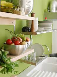 Green Kitchen Design Ideas Design Ideas For Kitchen Shelving And Racks Diy