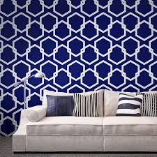 temporary wallpaper honey comb metallic silver deep blue u2013 dormify