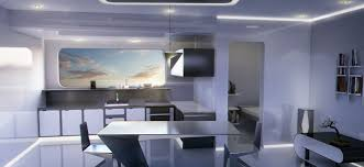 Minimalist Apartment Artstation Futuristic Sci Fi Minimalist Apartment Interior Adam
