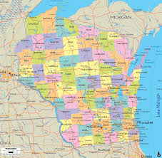 Political Map United States by Wisconsin County Map Us