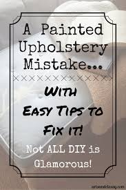 Fix Upholstery A Painted Upholstery Mistake U0026 My Easy Tips To Fix It Arts And