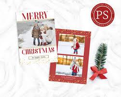 photographer photoshop holiday card template christmas photo