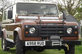 vintage range rover defender rare 1983 land rover defender county station wagon heads to auction
