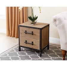 abbyson northwood industrial 2 drawer nightstand free shipping