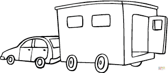 tractor trailer coloring pages trailer coloring page free printable coloring pages