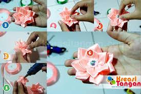 membuat kerajinan bros cara membuat bros dari pita kreasi tangan