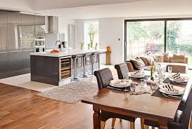 Breathtaking Kitchen And Family Room Layouts  In Home Interior - Kitchen and family room