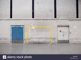 a soccer goal painted on a wall paris france stock photo