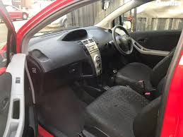 toyota yaris 1 litre petrol manual 3 door hatchback 2007 red