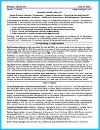 sample resume for senior business analyst business analyst project manager sample resume download attractive