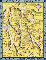 Map Of Spokane Washington Jolly Lindgren U0027s 1948 Map Of Death Valley National Park Death