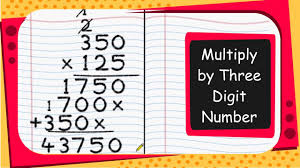 Multiplication By Two Digits Worksheets Maths How To Multiply By Three Digit Number English Youtube