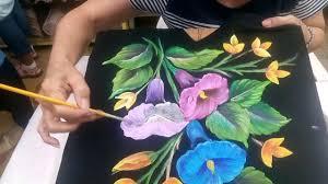 imagenes con flores azules dia de la maestra pintando playera negra con la maestra tere gregorio youtube